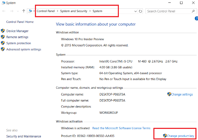 Activate windows 10 with serial key