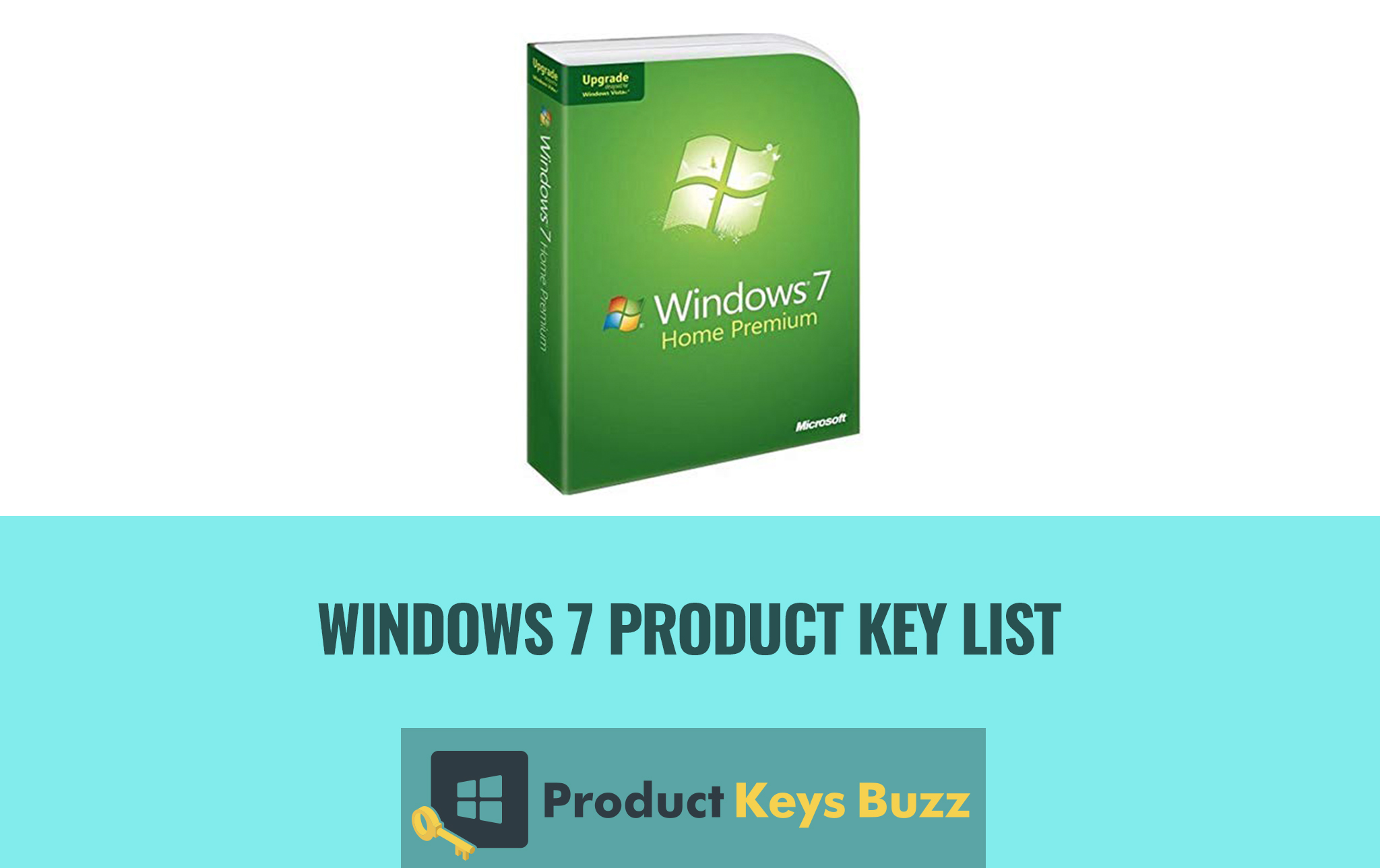all product key for windows 7