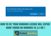 How to Fix 'Your Windows License Will Expire Soon' Error on Windows 10, 8.1 or 7