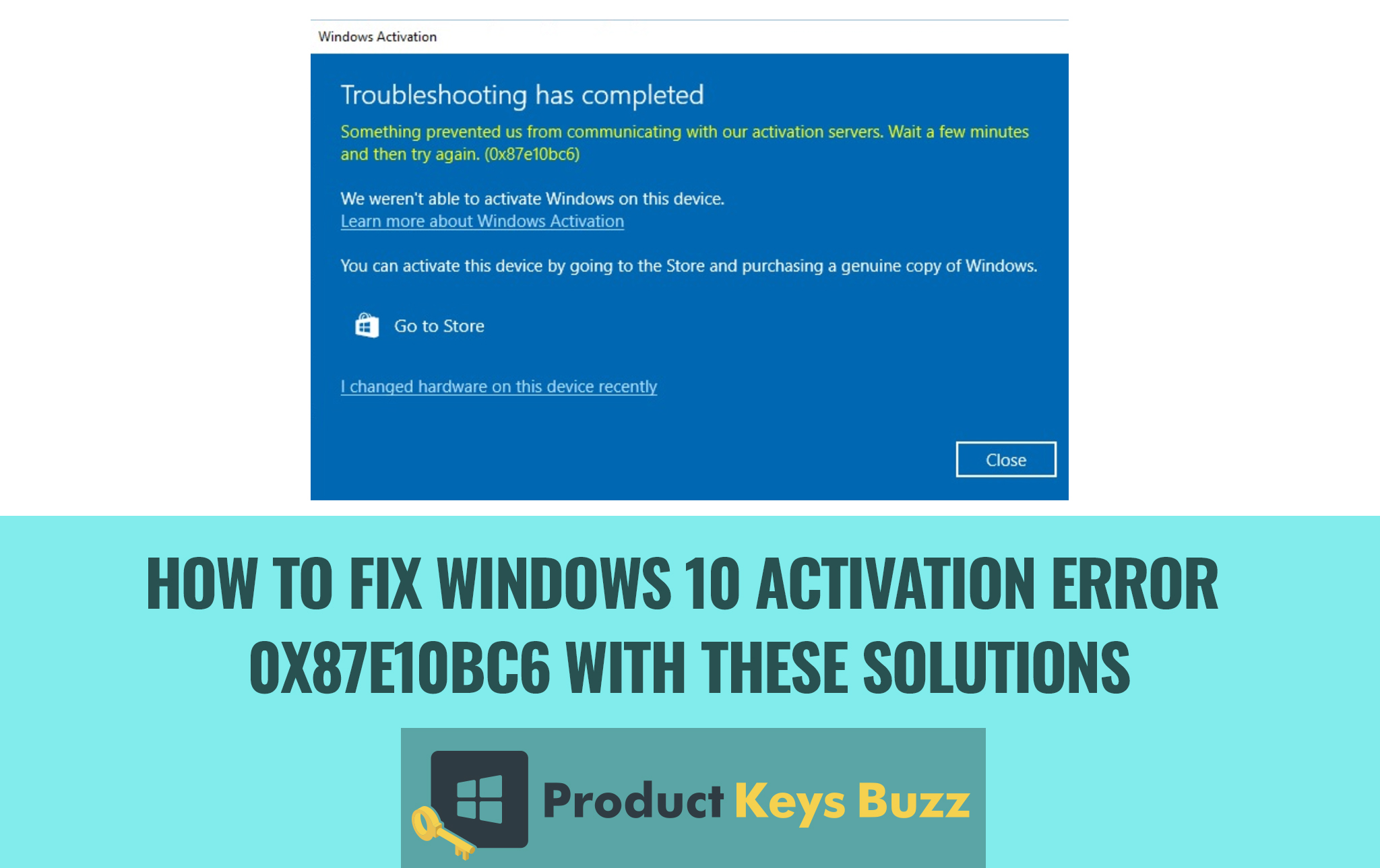 Fix Windows 10 Activation error 0x87e10bc6 with these solutions