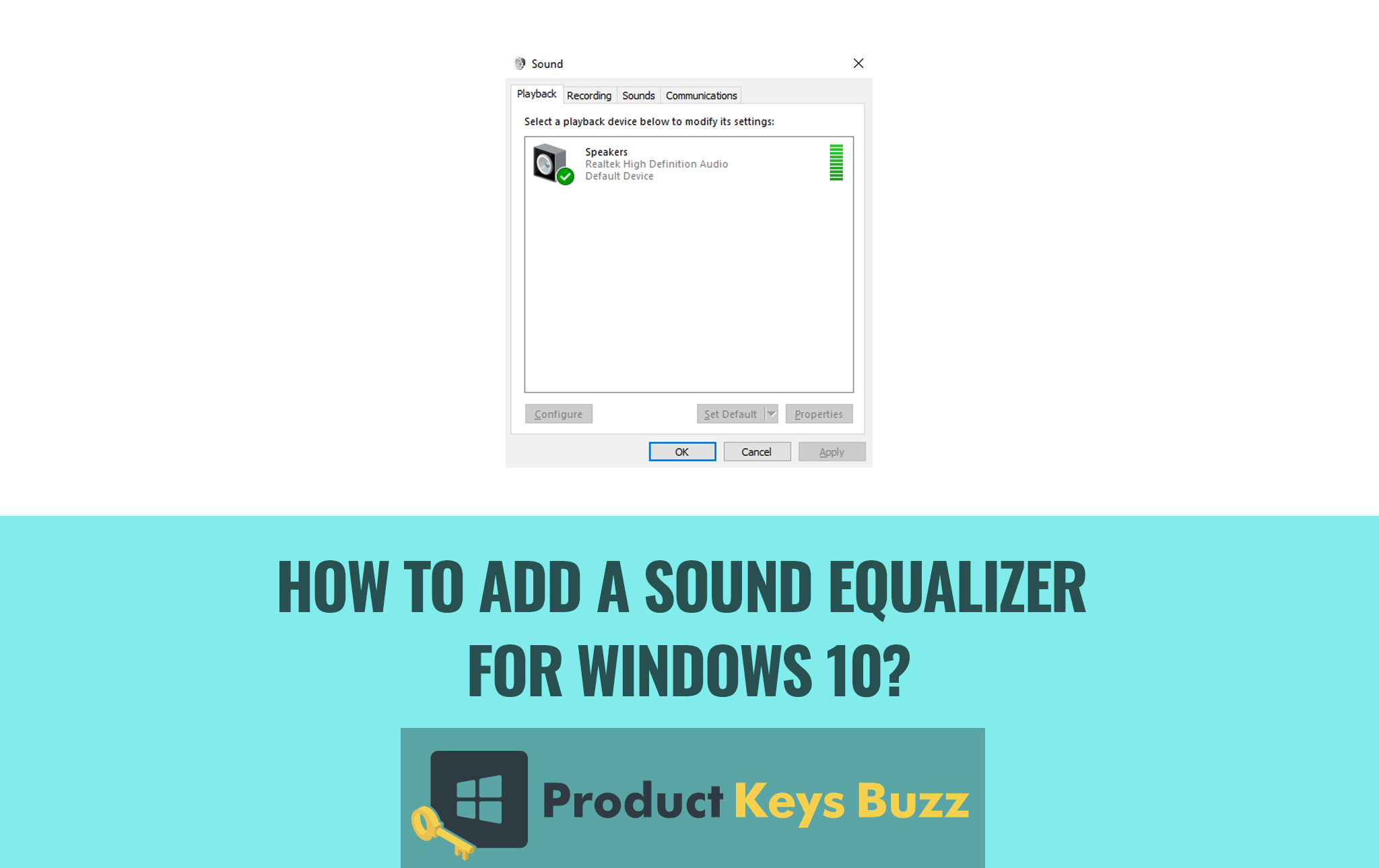 How to add a sound equalizer for Windows 10?