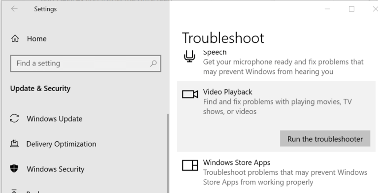 Run the Troubleshoot