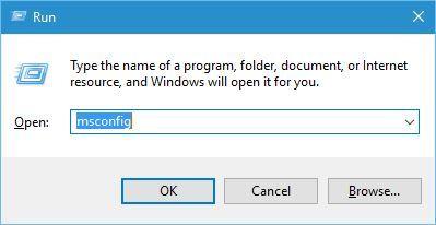 enter msconfig Press Enter or click OK