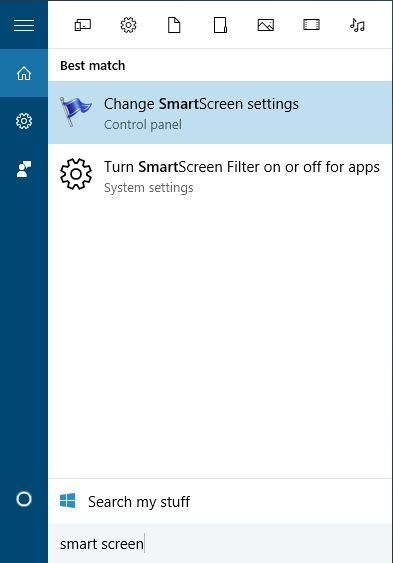 select change smart screen settings