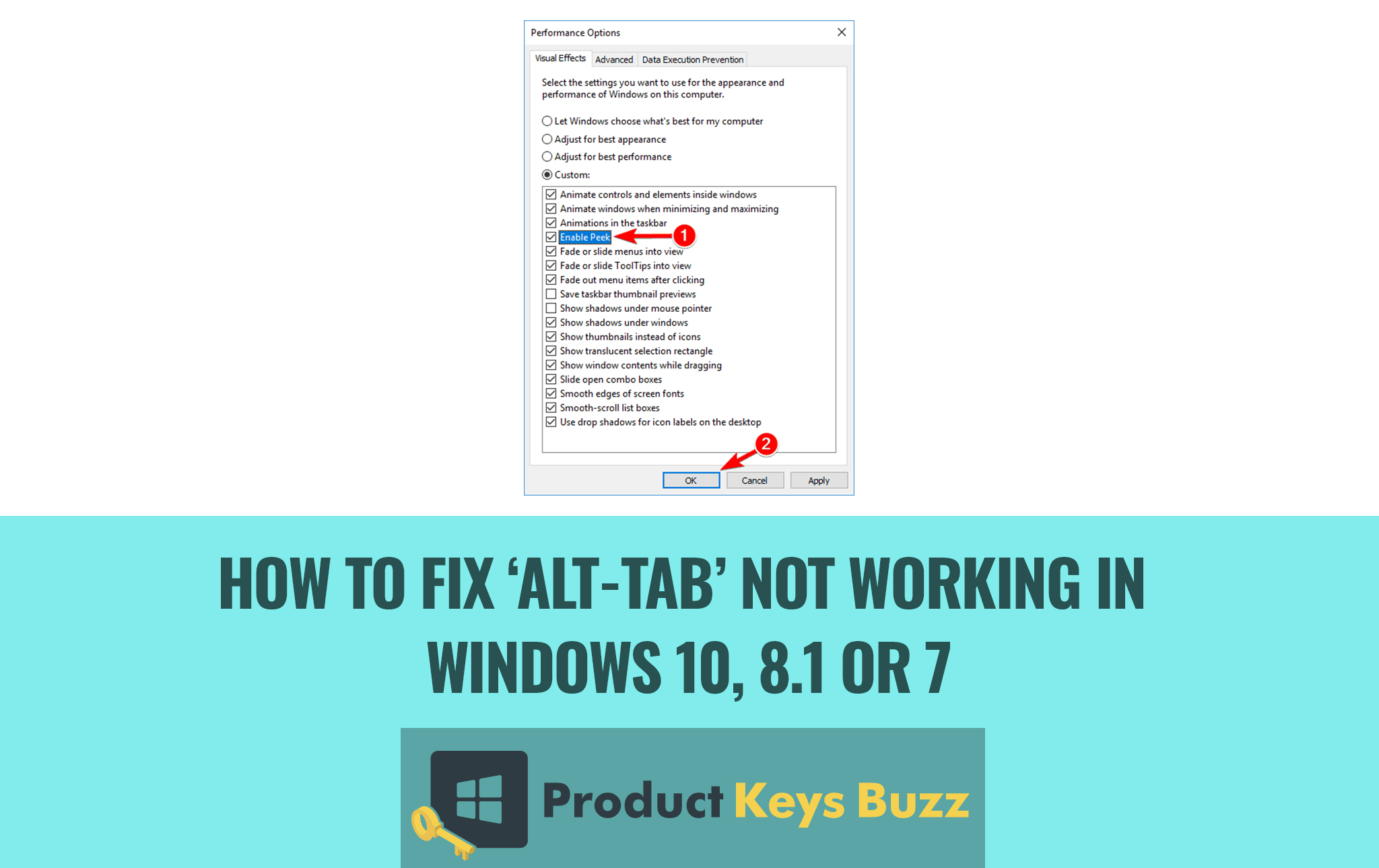 How to Fix 'Alt-Tab' Not Working in Windows 10, 8.1 or 7