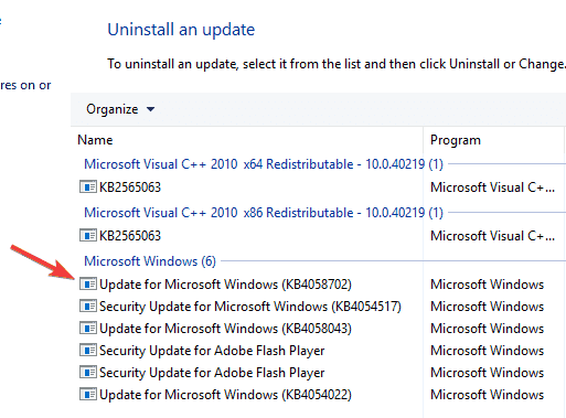 Remove the problematic updates