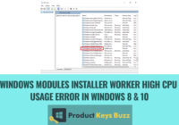 Windows Modules Installer Worker High CPU Usage Error in Windows 8 & 10