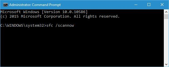ommand prompt window type SFC/ scan now and then press enter