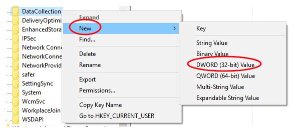 DWORD (32-bit) value