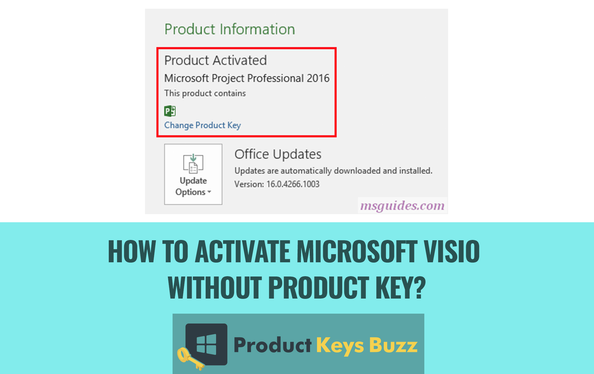 How to Activate Microsoft Visio without Product Key?