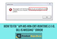 "How to Fix ""API-ms-win-crt-runtime-l1-1-0.dll is missing"" Error"