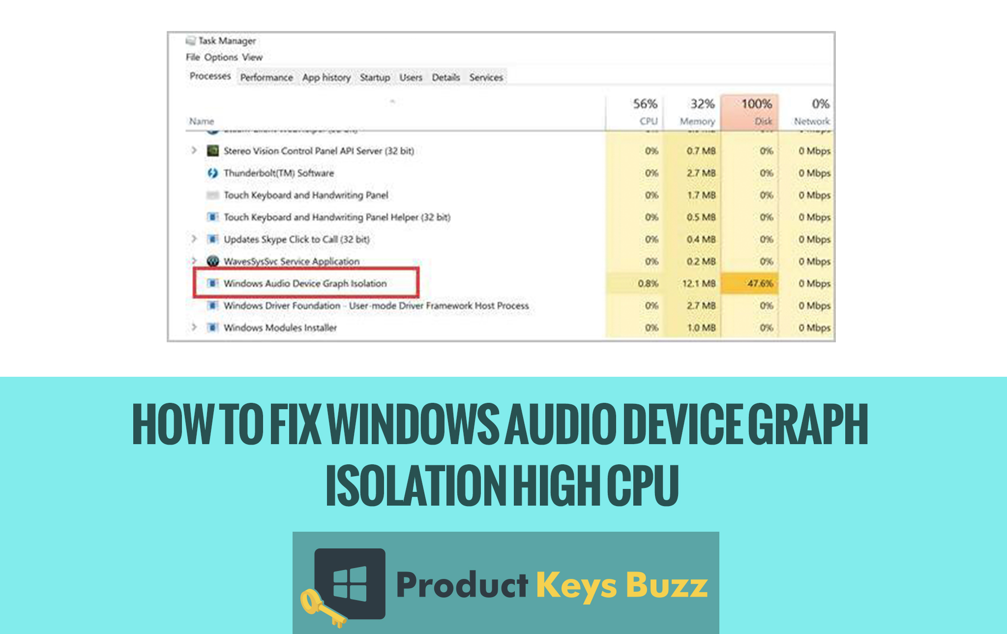 How to Fix Windows Audio Device Graph Isolation High CPU?
