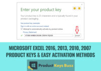 Microsoft EXCEL 2016, 2013, 2010, 2007 Product Keys & Easy Activation Methods