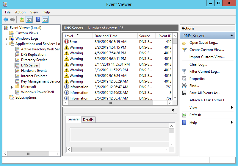 How to Enable Event Logging in Windows DNS Server