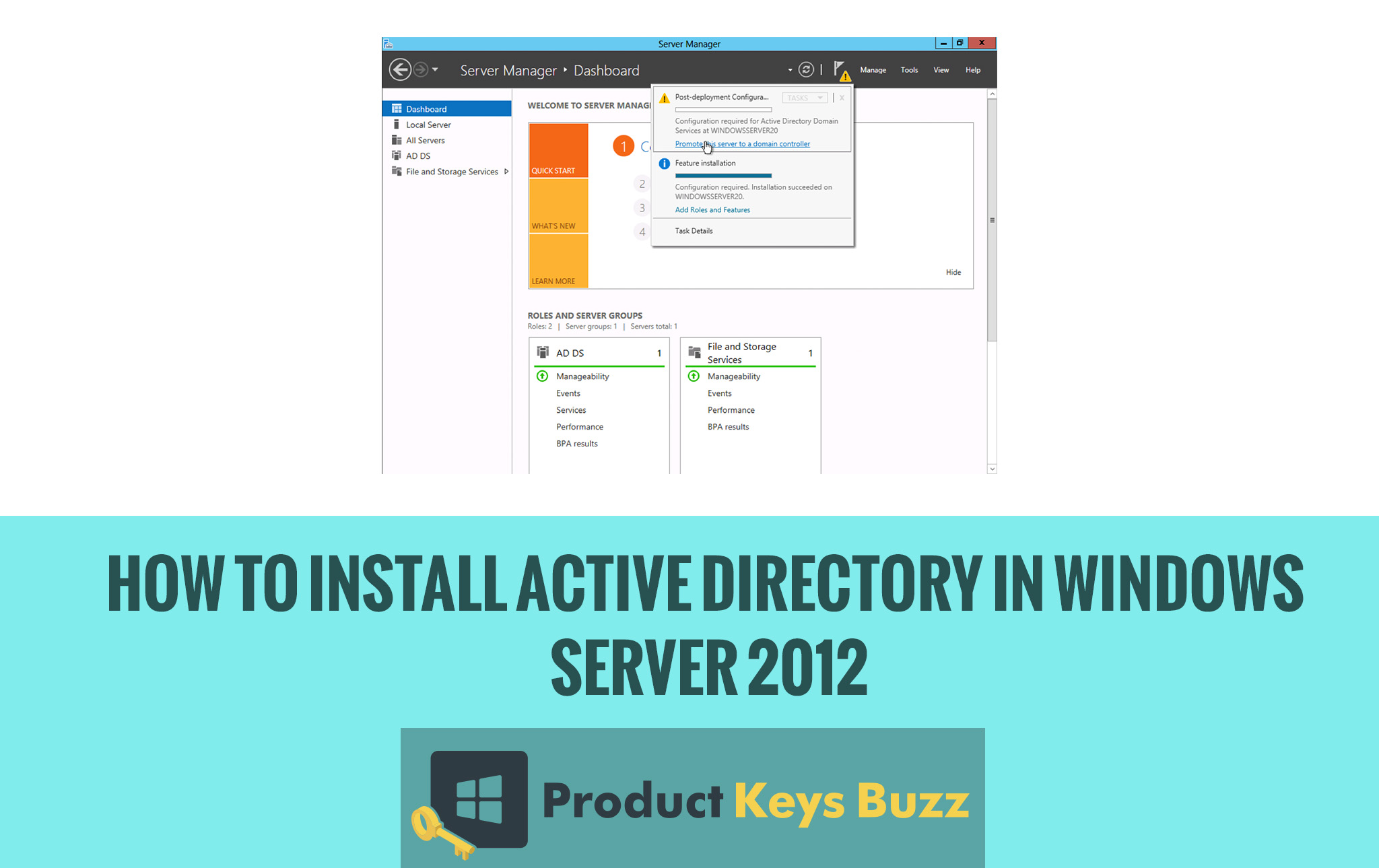 Complete Guide to Install Active Directory in Windows Server 2012