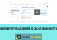 How to Remove Microsoft Account in Windows 10?