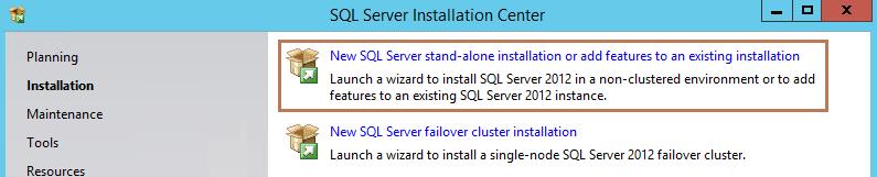 new SQL server installation