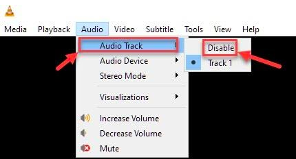 Disable and Enable Audio Track